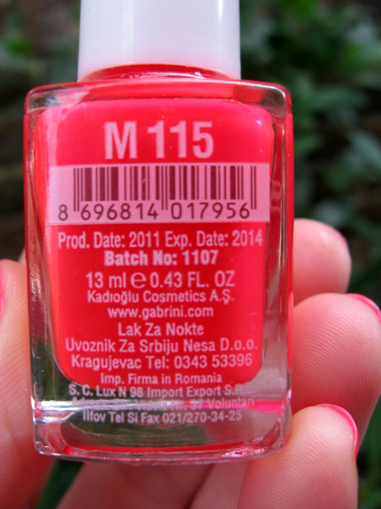 Gabrini Multivitamin M115 nail polish