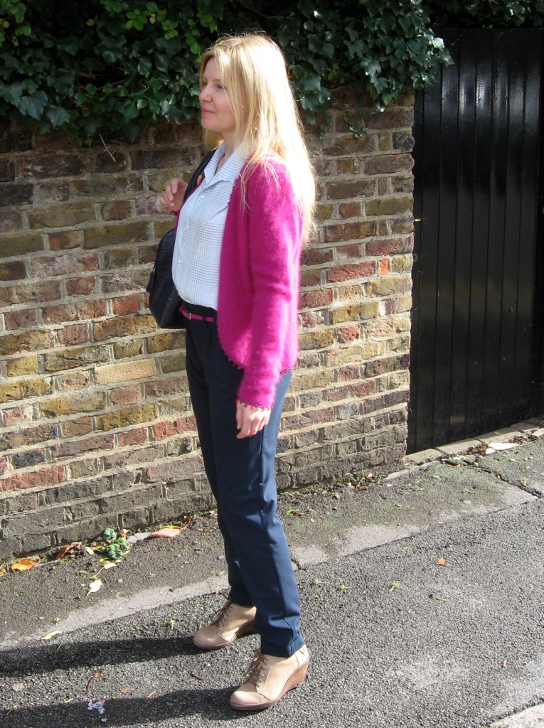 E's lookbook 'Fuchsia and navy blue'