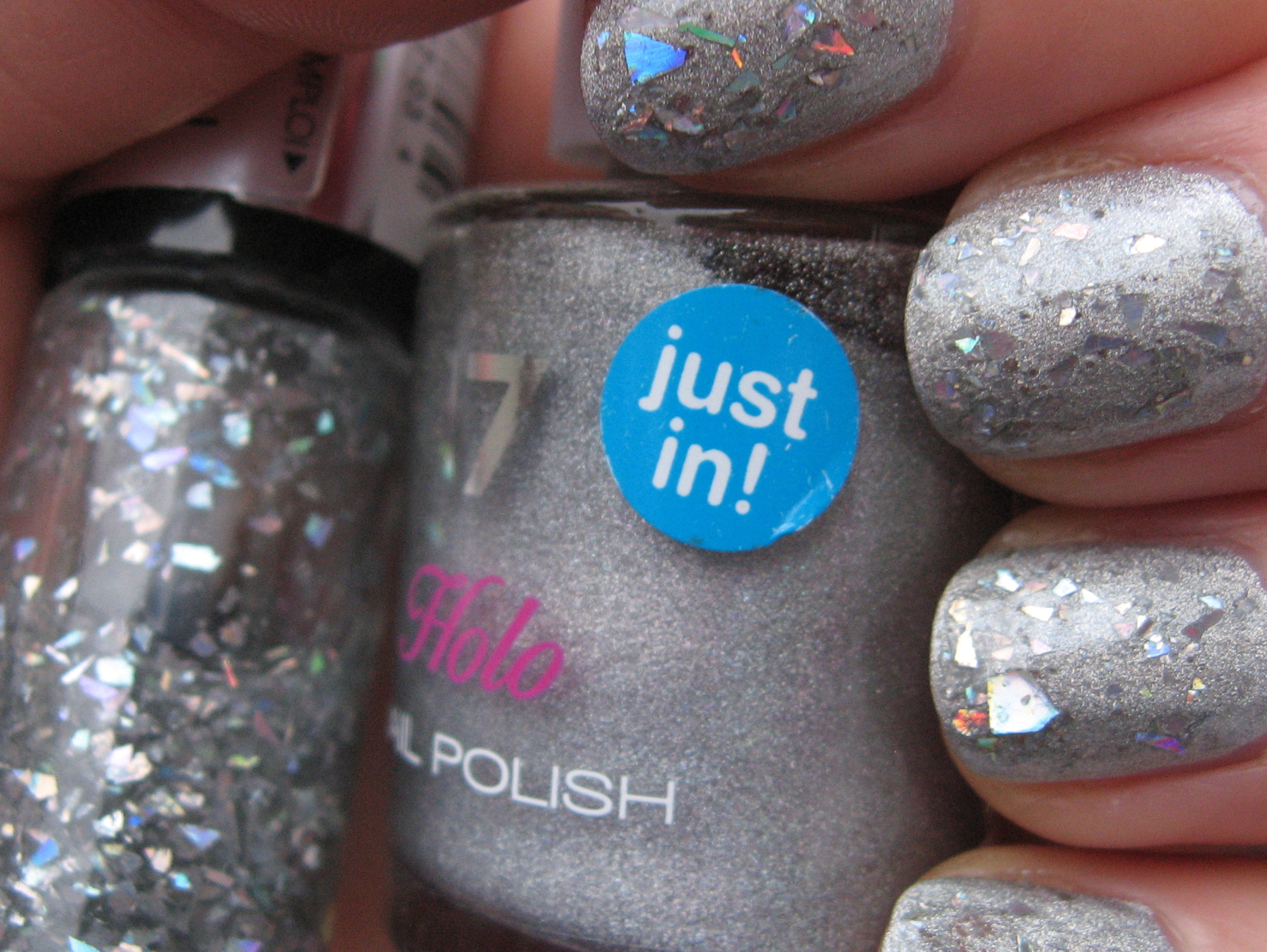 17 Holo Silver with Revlon Moon Candy 'Milky Way' nail polishes ...