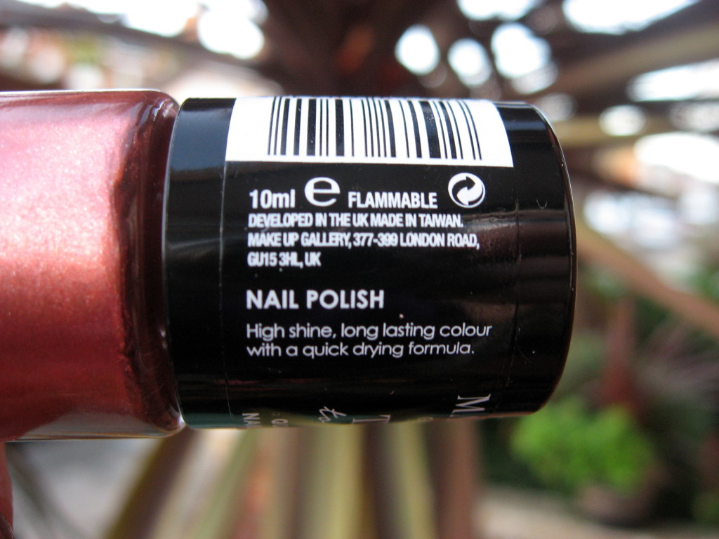 Pounland's Make up gallery 'Copper Kiss' nail polish