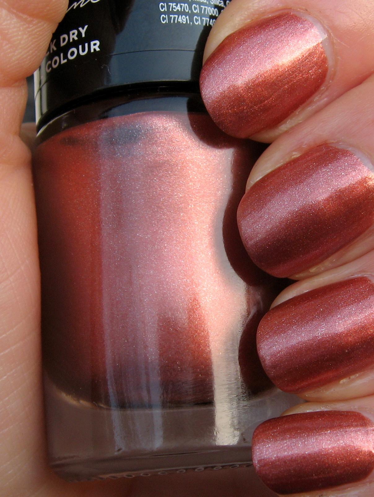 Poundland Make Up Gallery \'Copper Kiss\' nail polish - elafurtak