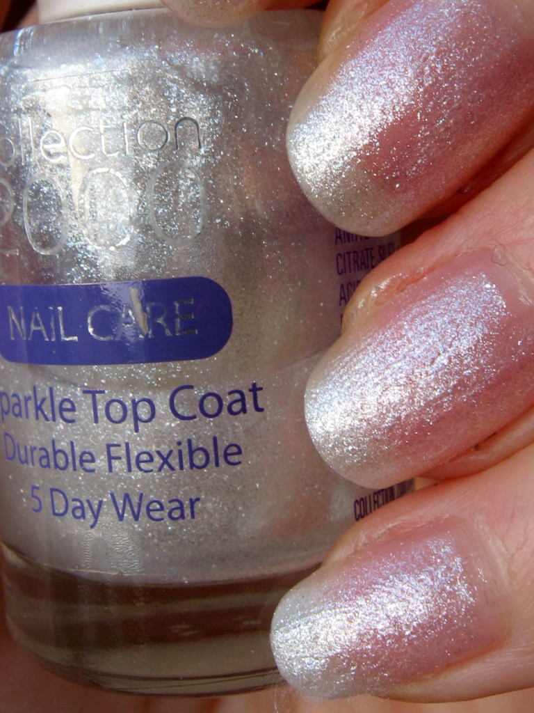 Collection Sparkle Top Coat nail polish swatch