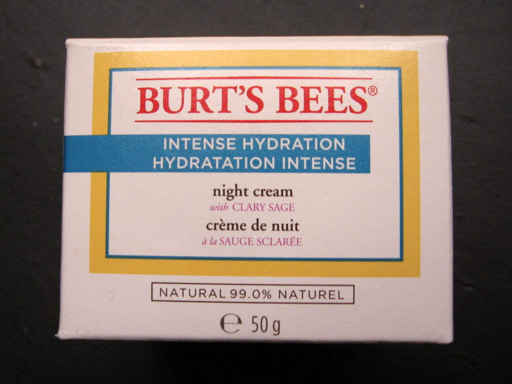 Review of Burt's Bees 'Intense Hydration Night Cream with Clay Sage'